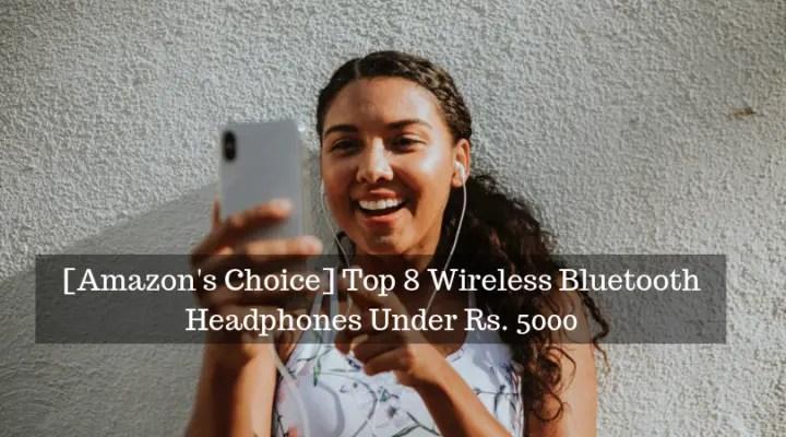 Wireless bluetooth headphones under 5000
