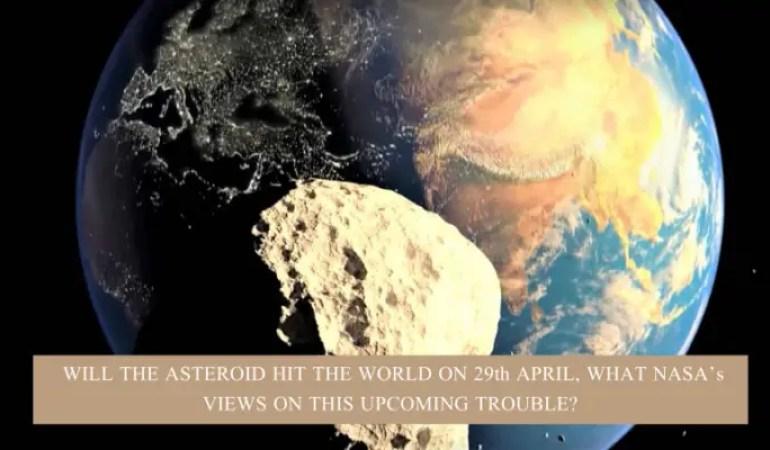 Asteroid Hit on 29 April