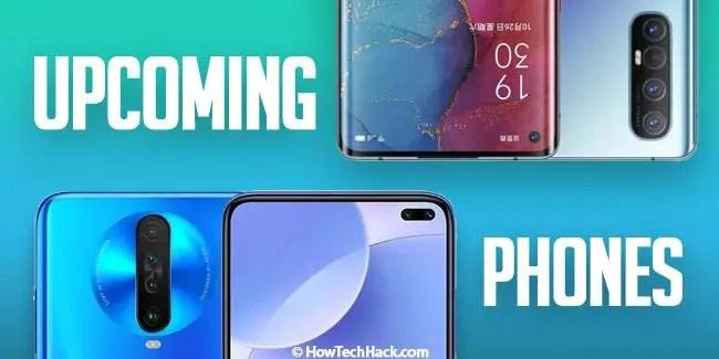 upcoming phones in India