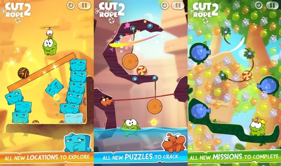 Cut the rope 2: Best Puzzle Games for Android
