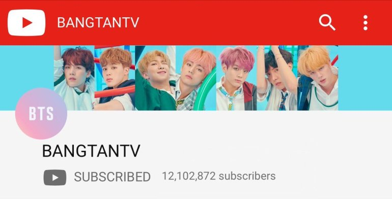 Bangtan TV: 50 Most Subscribed YouTube Channels Globally | Breaking Records
