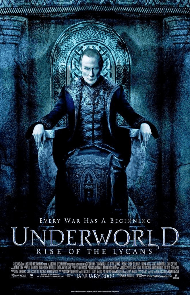 Underworld: Rise of the Lycans (2009)- Underworld Movies in Order