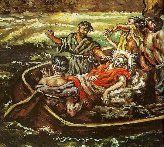 Et Jésus dormait dans la barque...