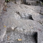 Pequeños escalones en Huayna Picchu