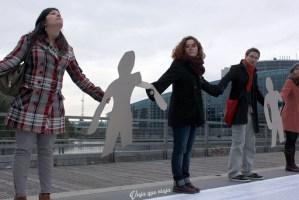 Protesta de inmigrantes en Estrasburgo, Francia