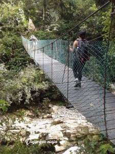 Puente por la Ciudad Perdida de Colombia
