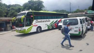 Los buses para ir a Putumayo, Colombia