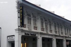 Fachada del Bunc Hostel Singapur