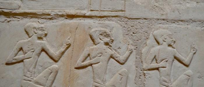 Jeroglíficos en Egipto