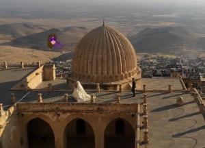 mirador desde arriba de la madrasa en mardin