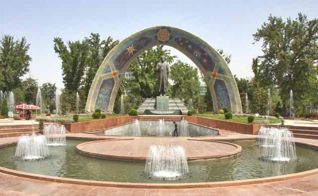 Rudaki Park Rudaki Statue Duschanbe