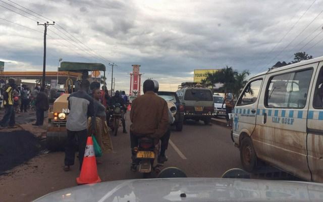 Verkehrschaos in Kampala