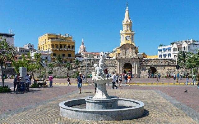 Plaze del Reloj in Cartagena Kolumbien