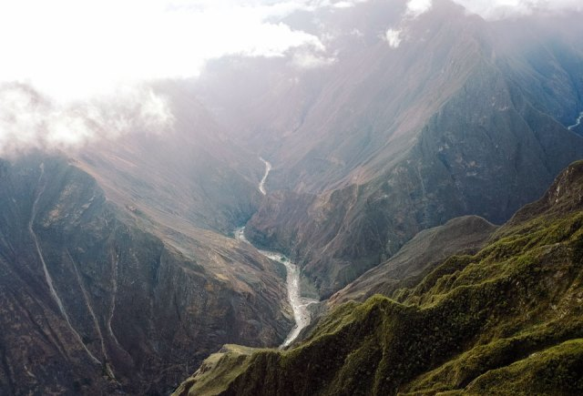 Ausblick Choquequirao Trek Peru