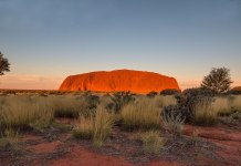 Sonnenuntergang am Uluru Australien
