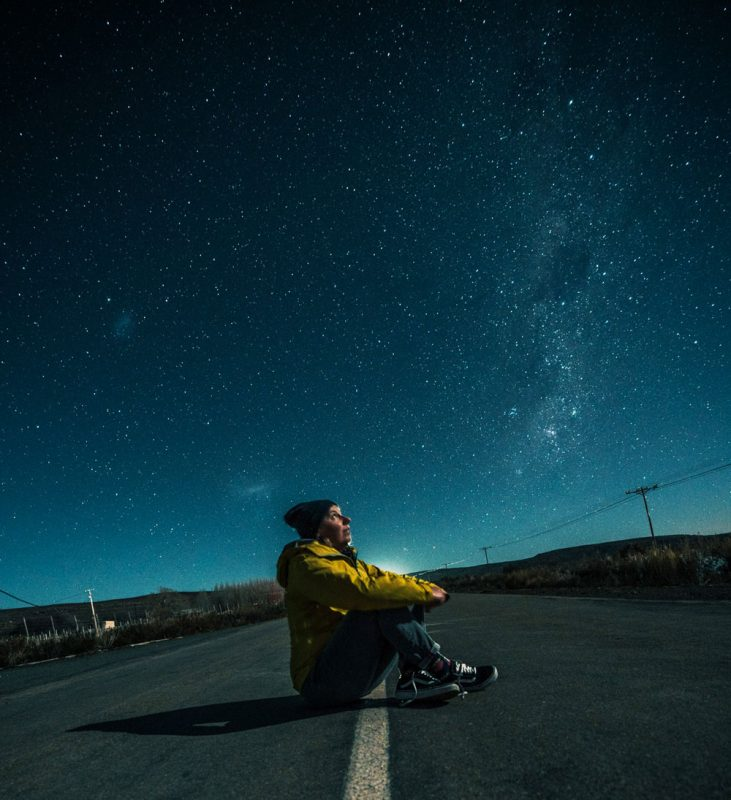 De sterrenhemel kijkt in Sutherland, Zuid-Afrika