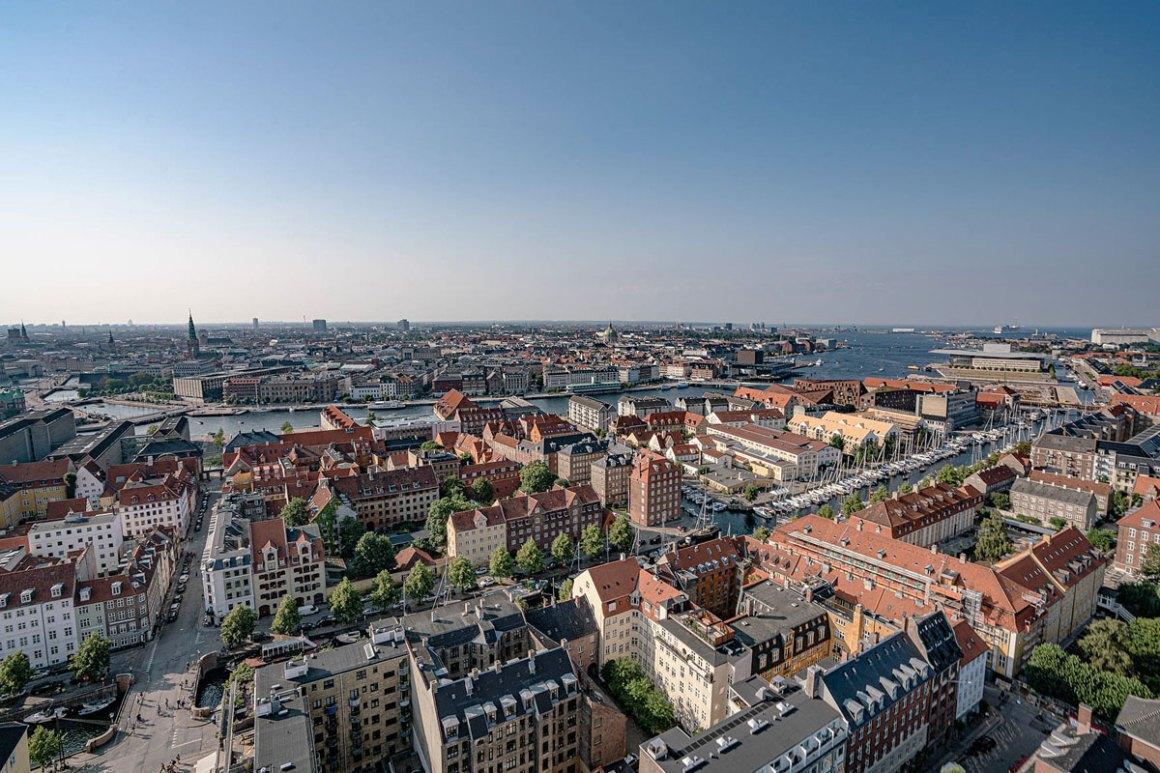 Voor het vooruitzicht van Frelsers Kirke Kopenhagen