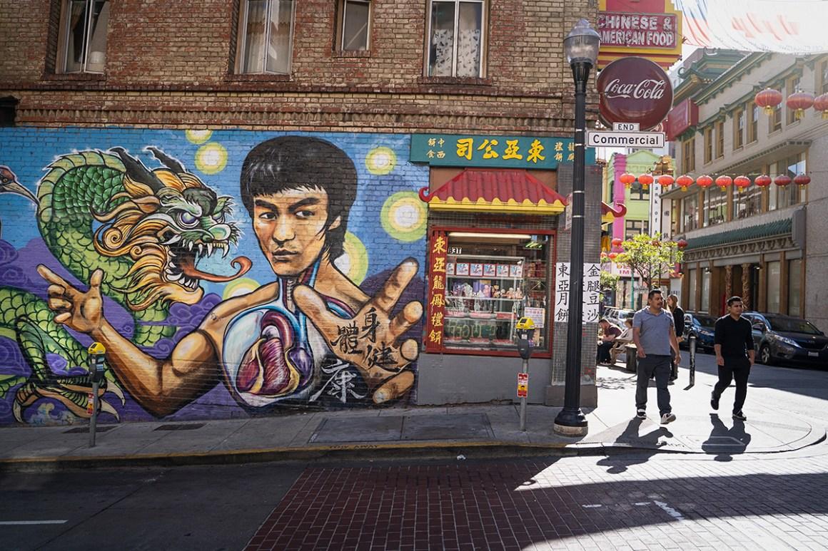Bruce Lee Muurschildering San Francisco