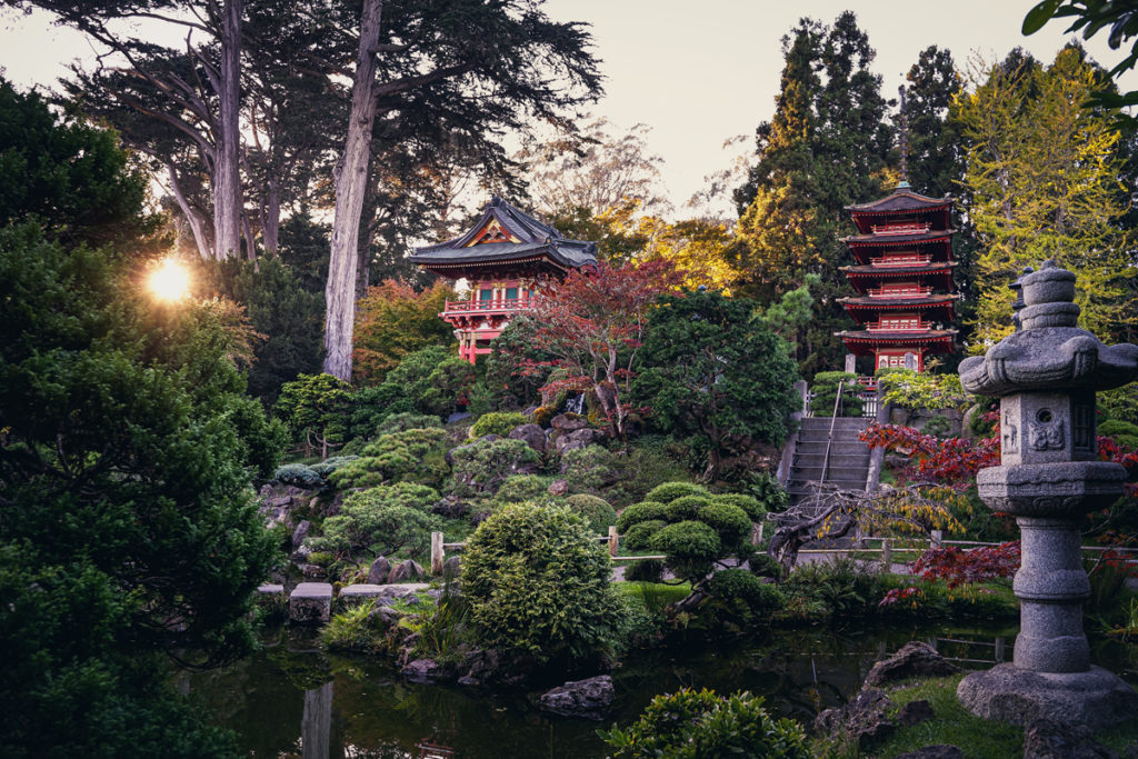 Japenese Tea Garden Golden Gate Park San Francisco.