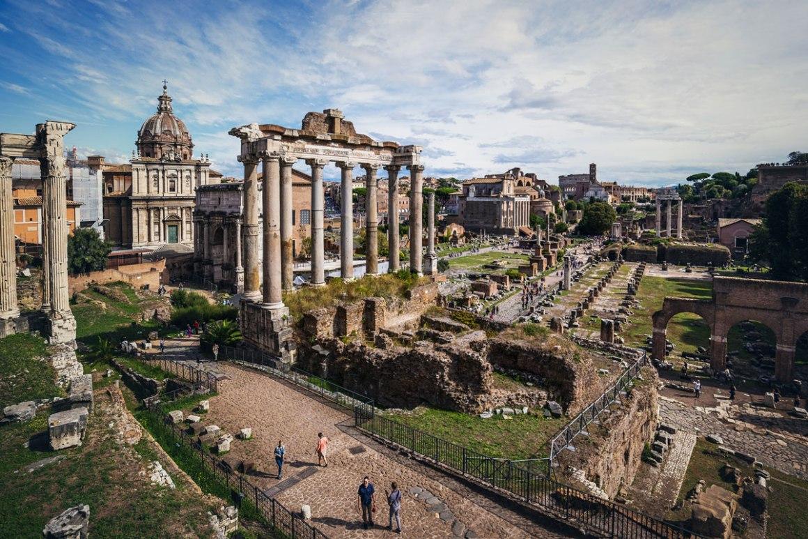 Uitzicht vanaf de Capitol Hill over het Forum Romanum