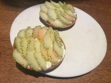 Relæ - Tarte mit grünen Erdbeeren