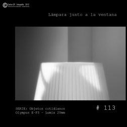 Lámpara junto a la ventana (Objetos cotidianos #113)