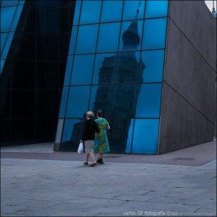 Reflejo en azul