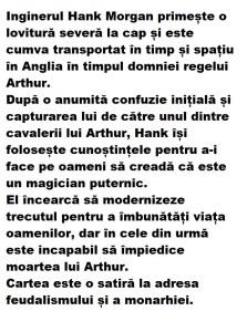 descriere un yankeu la curtea regelui arthur