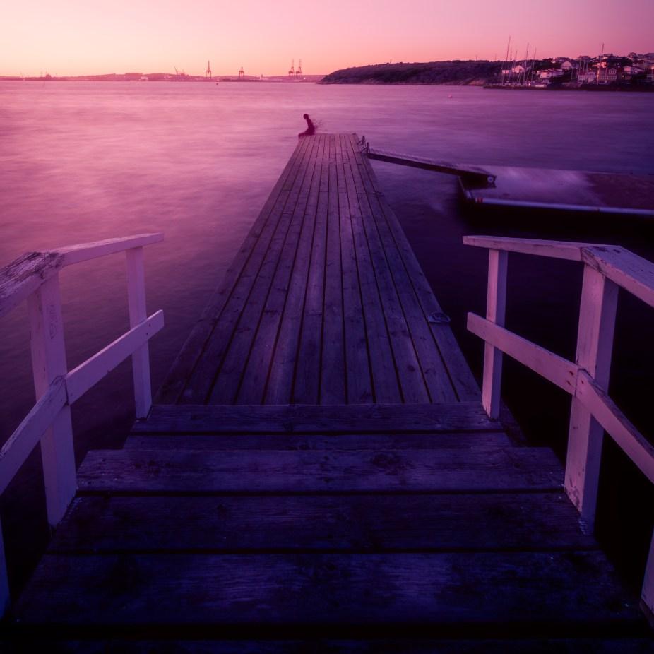 Sunset at Langedrag in Gothenburg.