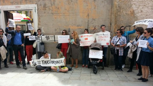 Photo courtesy Defne Ayas from http://hyperallergic.com/72413/resistance-to-turkeys-bloody-protests-reach-the-venice-biennale/