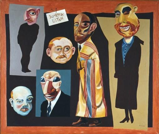Hannah Höch, Die Journalisten, 1925 Öl auf Leinwand 86 x 101 cm © Berlinische Galerie, Berlin / © Bildrecht, Wien, 2014