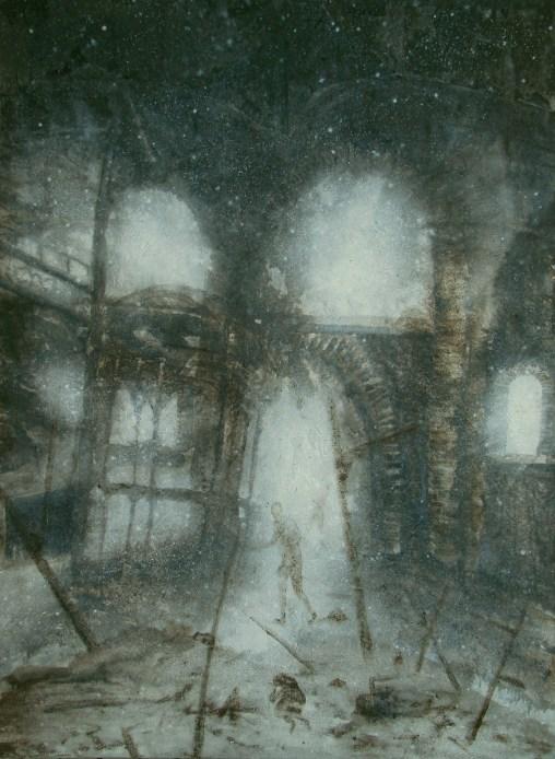 Kyle Fitzpatrick Kristallmorgen, 2013 Mixed media on canvas 197 x 148 cm Courtesy Anaid Art Gallery, Bucharest