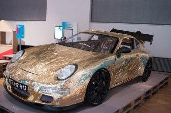 'Smart Life in the City' at MAK. Hannes Langeder, Ferdinand GT3 RS, Bicycle-Porsche for deceleration and ecologically gentle mobility, 2010