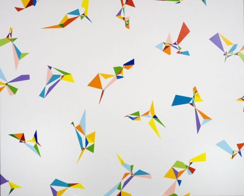 Petr Kvicala, Clusters, Painting, 2013, Fait Galley, photocredit: courtesy of the artist