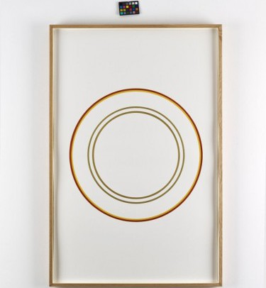 Winston Roeth, Edinburgh Circles, Painting, 102 x 67 cm, Galerie Christian Lethert, photocredit: courtesy of Simon Vogel