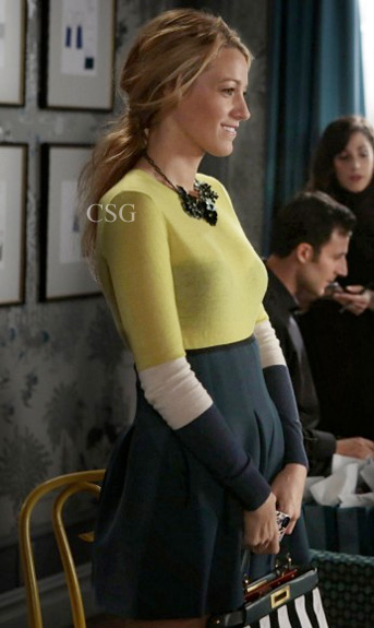 Blake-Lively-Serena-T-by-Alexander-Wang-Neoprene-Inverted-Pleat-Skirt