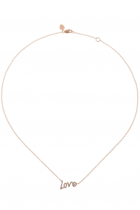 LOVE Kette Roségold Diamanten € 699,00