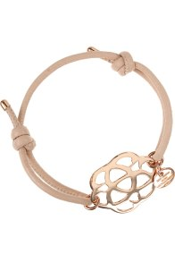Lederarmband rosé vergoldet von New One 179€ http://www.newone-shop.com/new-one-jewelry/aida-lederarmband-beige-rose-vergoldet-ornament-blume.html