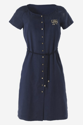 LaRedoute MADAME A PARIS Dress € 83,30 http://www.laredoute.com/madame-a-paris-silk-crepe-de-chine-short-sleeved-dress/prod-324400139-729013.aspx
