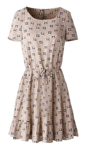 LaRedoute ODYSSÉE Kleid € 159,00 http://www.laredoute.com/odyssee-printed-frilled-hem-dress-2-colours/prod-324458920-687214.aspx