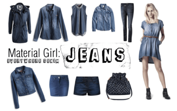 wear denim like ... material girl