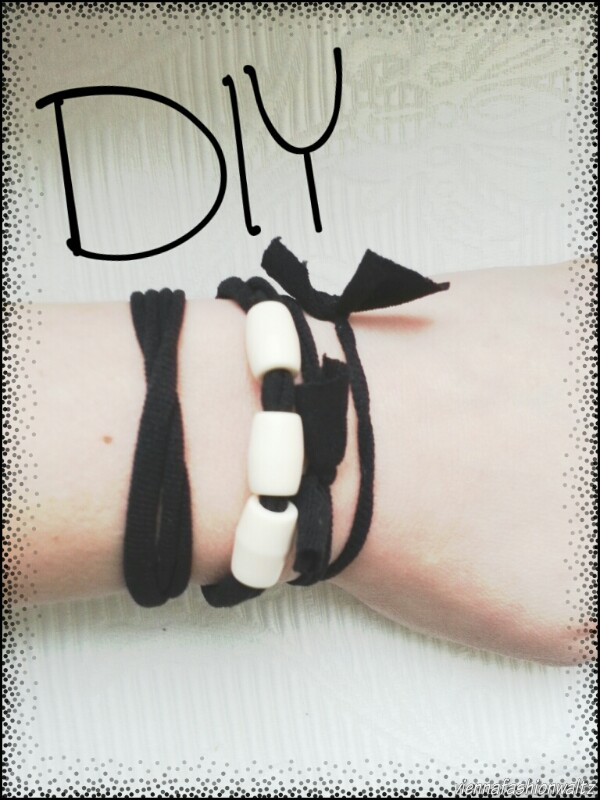 DIY, Upcycling Armband, Haarspange, Strumphose, Strumpfhosen recycled