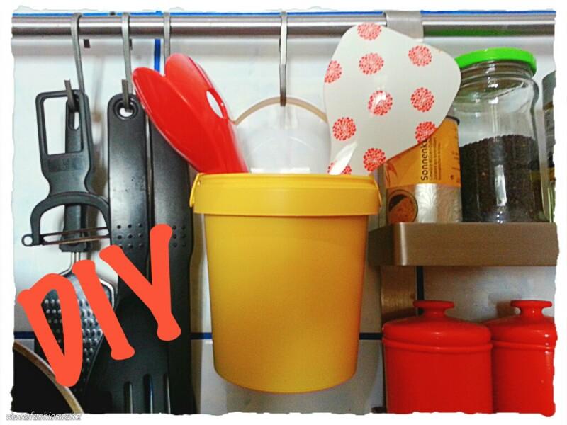 Upcycling Utensilo für die Küche DIY Utensilo, Aufbewahrung, upcycling Becher, Pflanzgefäß, Topf, Ikea, Küche