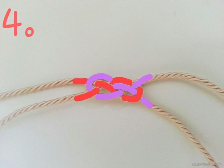 Knoten zusammenziehen...