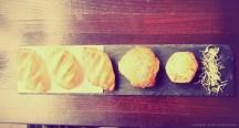 Bistro-Frühstück mit 5 Blätterteigteilchen...