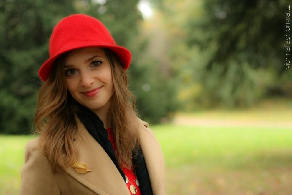 vienna fashion waltz blog - hut tut gut - hutlieblinge - roter Hut - red hat - hmshop h&m (2)
