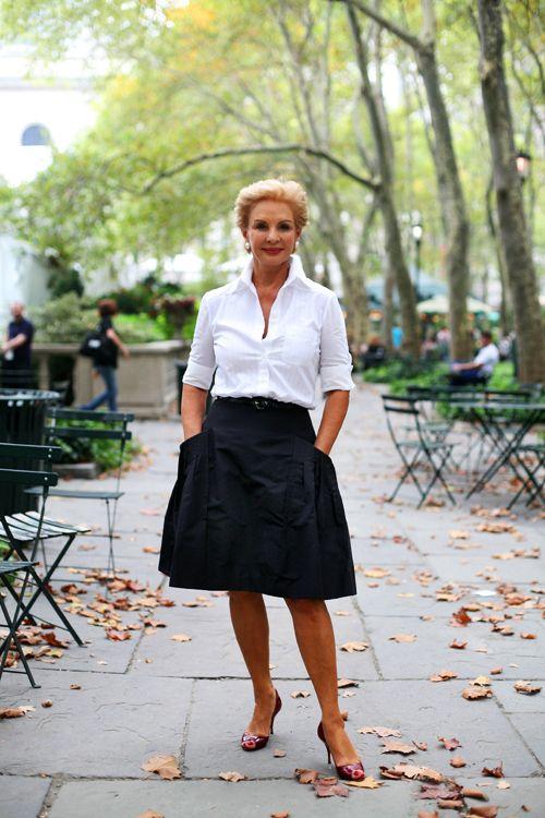 Carolina Herera Picture via Pinterest White Shirt Blouse https-_www.pinterest.com_pin_395964992210331552_