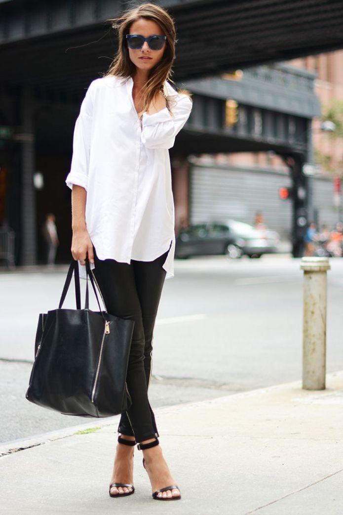 Picture via Pinterest White Shirt Blouse https-_www.pinterest.com_pin_86483255320642821_