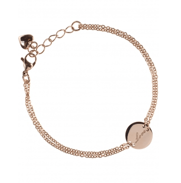 New One LOVE Armband Edelstahl rosé vergoldet € 22,00 (2) Blog Vienna Fashion Waltz