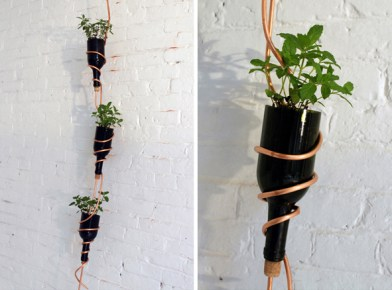 http://inhabitat.com/make-a-diy-modern-herb-garden-from-recycled-wine-bottles-for-30/homemade-modern-diy-herb-garden-ben-uyeda-2/